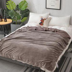 COUVERTURE - PLAID Plaid pour canapé lit 200*230cm couverture polaire
