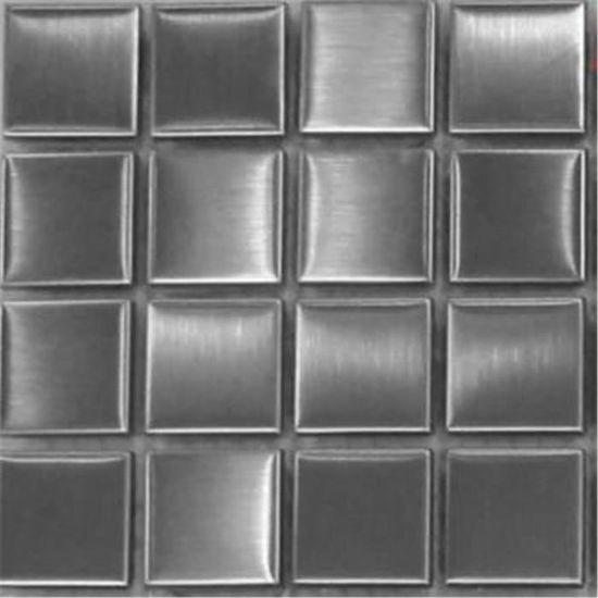 Finition acier bross/é Offre propos/ée pour lachat dun petit /échantillon Carrelage mosa/ïque en acier inoxydable Argent MT0036 sample
