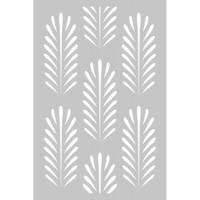 Pochoir 10x15 cm 'Artemio - Deep Green' Fond Feuilles