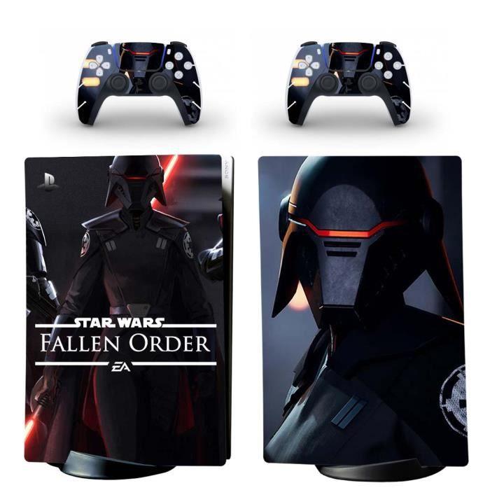 Star Wars PS5 Digital Sticker Skin Autocollant de protection pour PS5 Playstation 5 Digital Édition Console et 2 contrôleurs 05