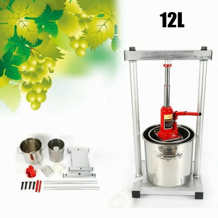 12L Presse-fruits Presse-fruits Cidre Broyeur à raisins Presse-fruits avec vérin