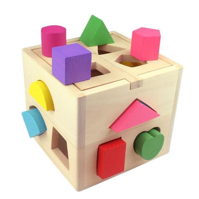 Enfants Bébé Blocs de construction Jouets Éducatifs En Bois