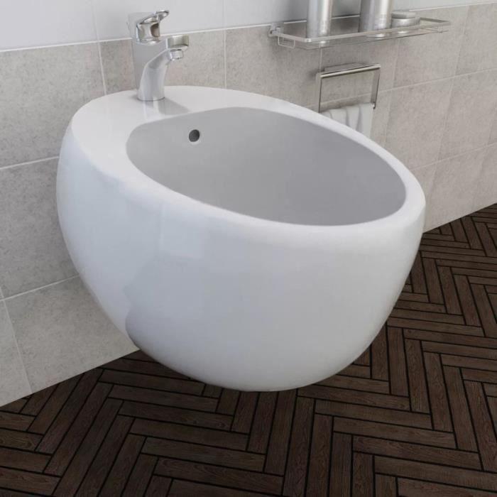 HENGXUAN Bidet suspendu en céramique sanitaire blanc