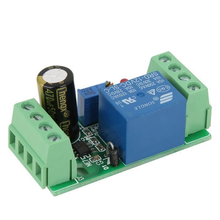 NAK Relais de temporisation réglable de module de connexion de commutateur de retard avec indicateur marche et arrêt 12 V