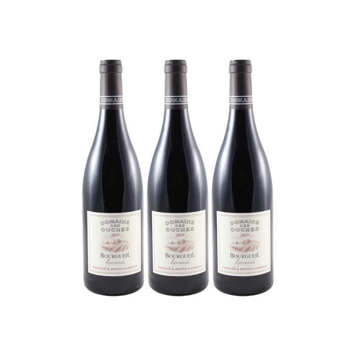 Bourgueil Igoranda Rouge 2015 - Lot de 3x75cl - Domaine des Ouches - Vin AOC Rouge du Val de Loire - Cépage Cabernet Franc