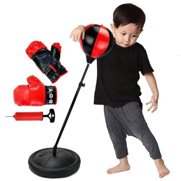 Sport Set de boxe avec sac de boxe Gants - punching ball pour les enfants réglables @ajghhah877