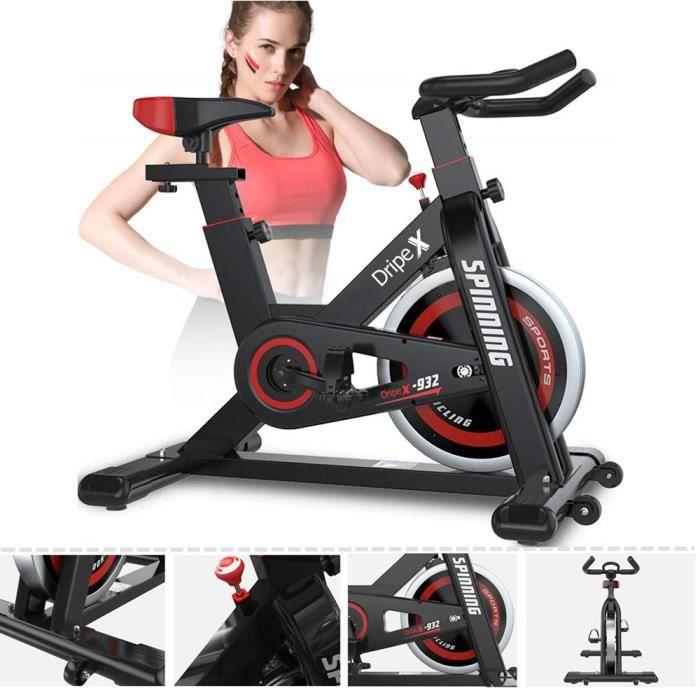 NOIR Vélo d'Appartement Vélo Spinning Supports pour Bras, Vélo de cardiotraining
