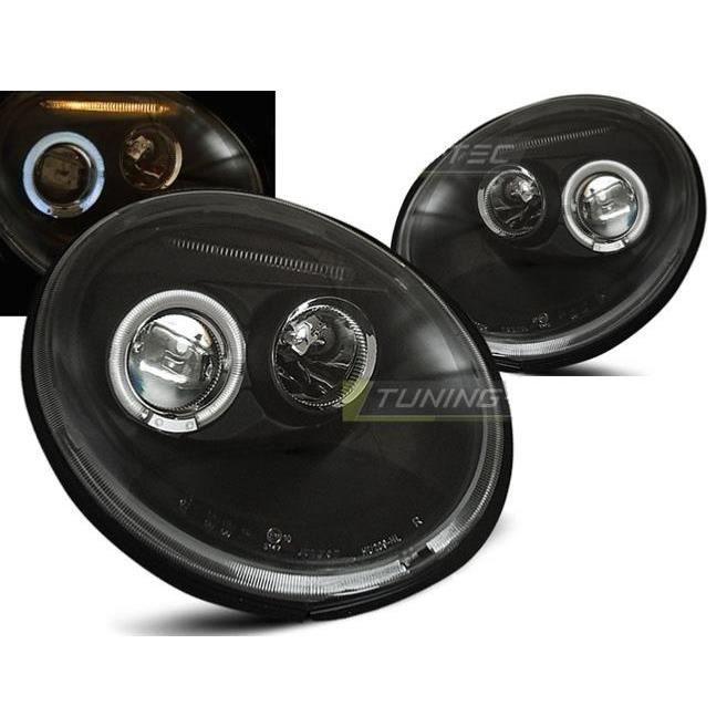 Paire de feux phares VW New Beetle 98-05 angel eyes noir-27361872