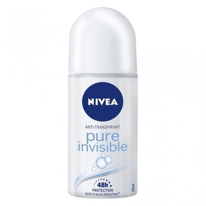Nivea Anti-Transpirant Pure Invisible 48h Protection 50ml (lot de 4)