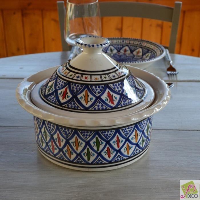 Cocotte Querouana Bakir bleu - D 25 cm