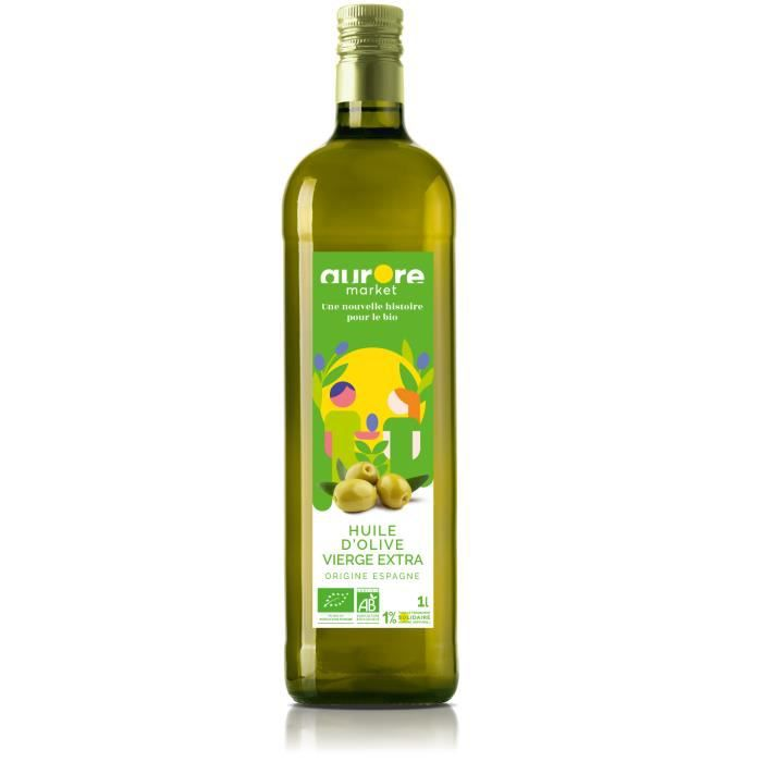 Huile d'olive extra vierge - 1l - Aurore Market
