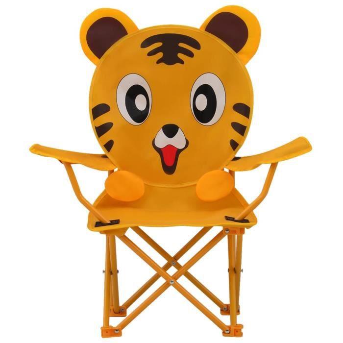 PRO© Lot de 2 Chaises de jardin pour enfants Ensemble de 2 Chaise de terrasse - Décor - Chaise Jaune - Tissu 91208 :-)