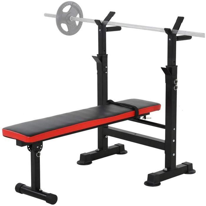 BANC DE MUSCULATION WSHA Banc de Musculation reacuteglable Banc dentraicircnement Pliant Support de Support dhaltegraveres de Re437