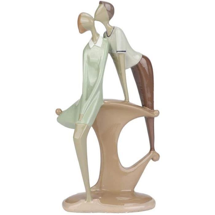 STATUE STATUETTE CERAMIQUE Vivid Couples Statue Bureau D&eacutecoration de La Maison, Creative Art Sculpture Chiffres D&eacute641