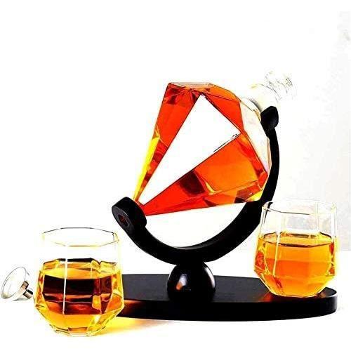 Carafes à décanter &Eacutetag&egravere à bouteilles,Etag&egravere à vin Whisky Carafe et verres Set, Verrerie d135