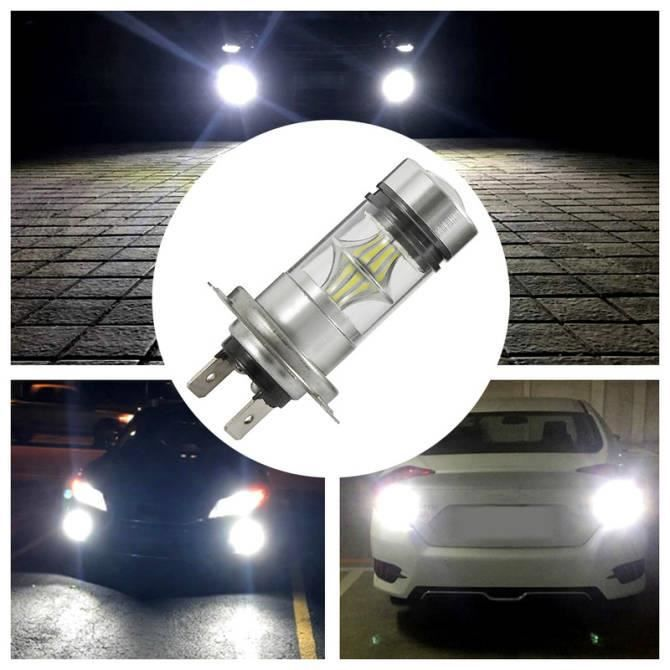 Phare 2 pcs H7 LED phare phare Les ampoules remplacent les globes blancs halogènes HID halogen 100w 6000K