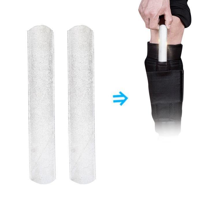 2pcs Plaque en Acier de Poids pour Équipement de Port de Protège-Tibias Gilet de Poids 15cm