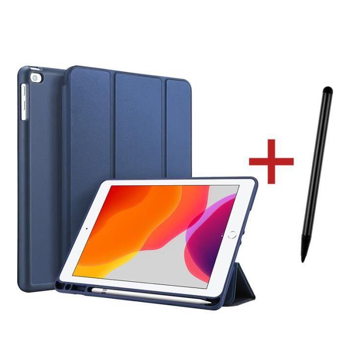 Étui iPad 8 10.2- 2020 [ +Stylet ] avec Support Fonction et Réveil/Sommeil Automatique Housse Coque iPad 8 10.2- 2020 - Bleu