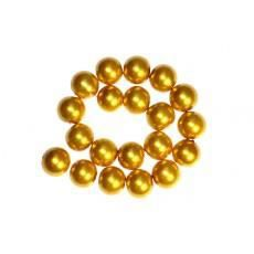 200 x Perle en Verre Nacrée 4mm Or