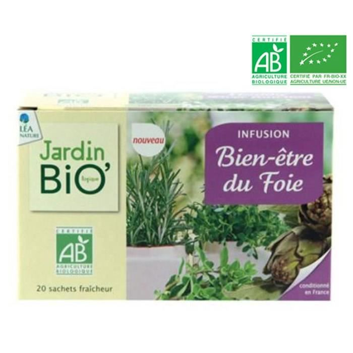 JARDIN BIO Infusion bien être foie bio - 20 x 28g
