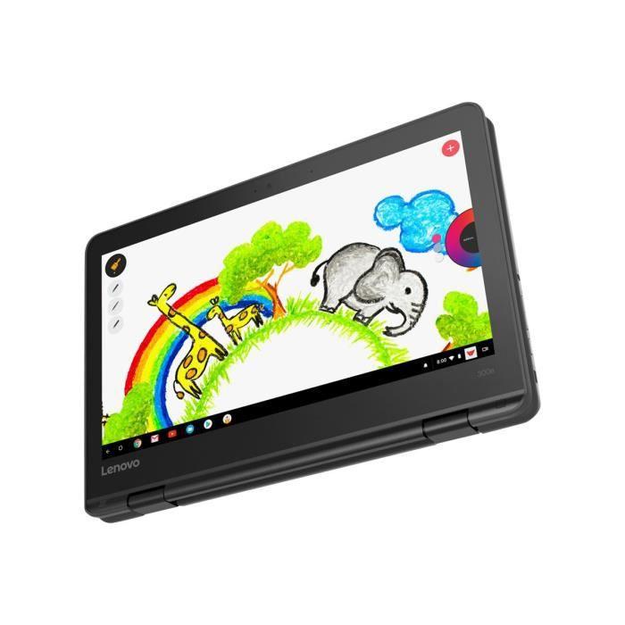 Lenovo 300e Chromebook 81H0 Conception inclinable Mt8173c 1.3 Ghz Chrome Os 4 Go Ram 32 Go Emmc 11.6