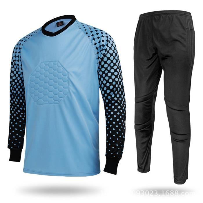 Maillot de gardien de but pour homme Maillot de gardien de football pour adulte Uniforme Protection contre les éponges Les chemises