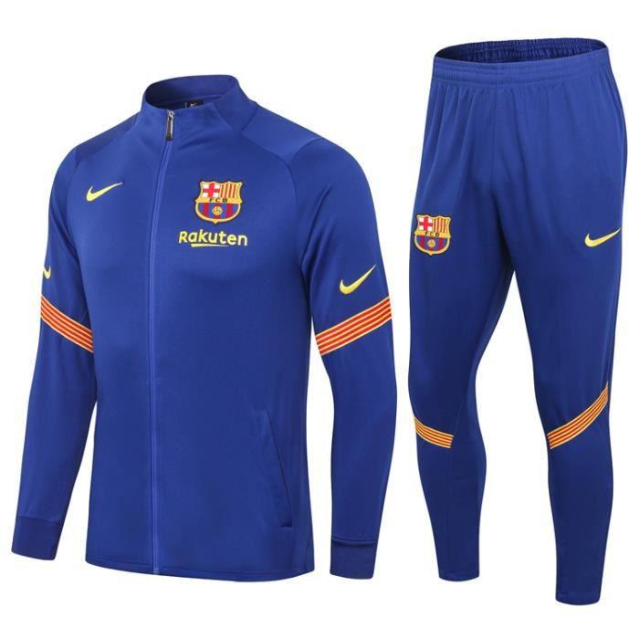 Veste FC Barcelone Nouveau Survêtement Barca 2020 2021 Survet Pas Cher Homme