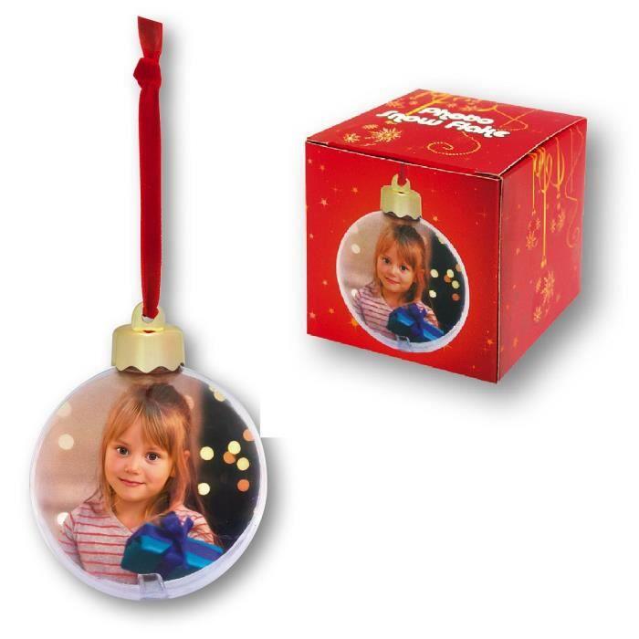 Boule de Noël personnalisable photo