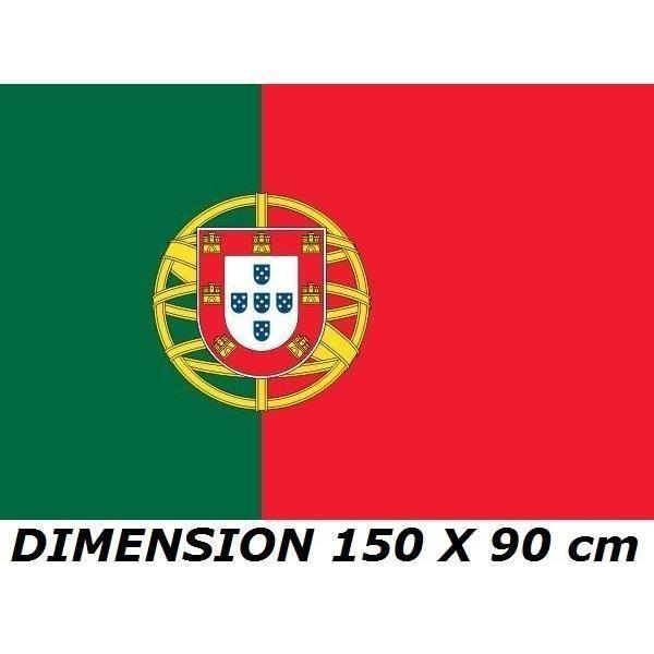 * EURO 2021 * DRAPEAU 150 X 90 cm PORTUGAL PORTUGAIS No Maillot Echarpe Fanion Casquette ...