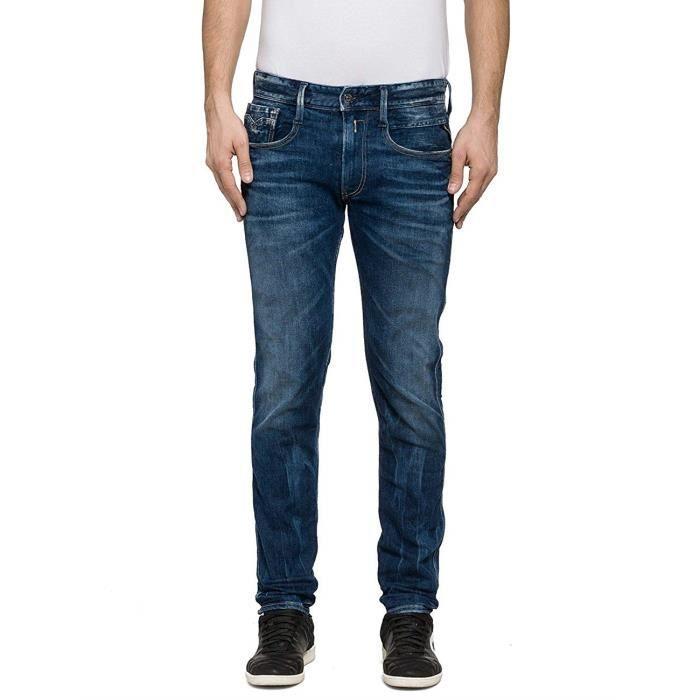 Replay Anbass, Jeans Homme, Bleu-Blau (Blue Denim 9), W/32 L (Taille Fabricant: 34) - M914 .000.59A 838-9