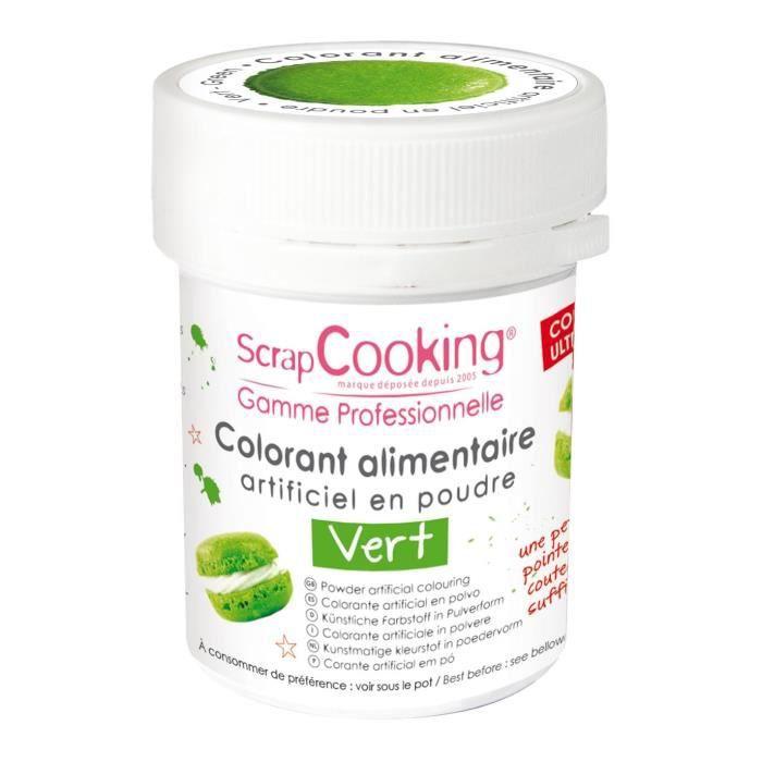 Colorant alimentaire (artificiel) - Vert - Scrapcooking