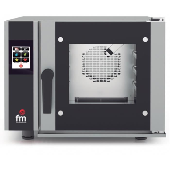 Four mixte à injection (vapeur + air pulsé) GN 2-3 à écran tactile - L650 x P715 x H540 mm - FM