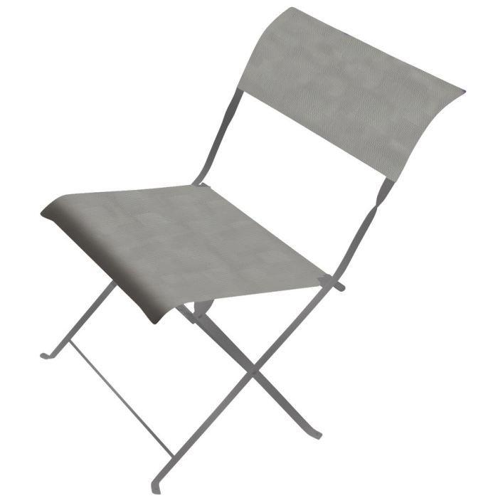 FAUTEUIL JARDIN  2 chaises pliantes en métal et textilène CITADYNE