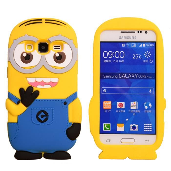 coque minion samsung galaxy core prime achat vente. Black Bedroom Furniture Sets. Home Design Ideas