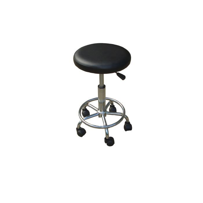 tabouret ak noir a roulettes hauteur r glable achat vente tabouret inox cdiscount. Black Bedroom Furniture Sets. Home Design Ideas