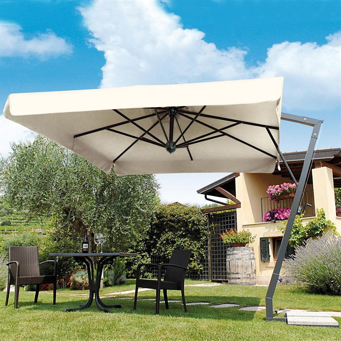 parasol d port carr napoli braccio 9 m2 ecru b1 achat vente parasol ombrage parasol. Black Bedroom Furniture Sets. Home Design Ideas