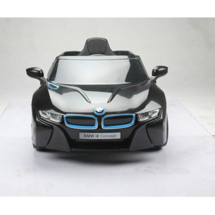 superbe bmw i8 noire voiture lectrique 12v2 moteurs. Black Bedroom Furniture Sets. Home Design Ideas