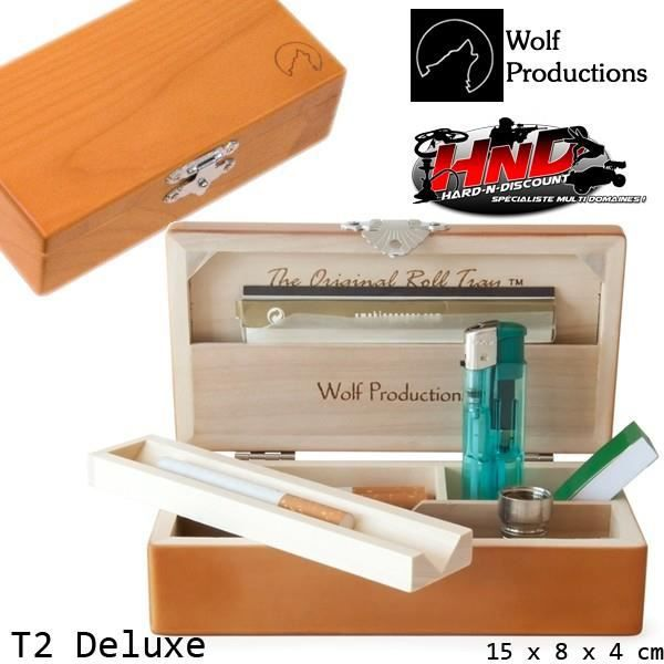 BOÎTE - BLAGUE À TABAC Original Roll Tray Deluxe T2 Wolf Productions - Bo
