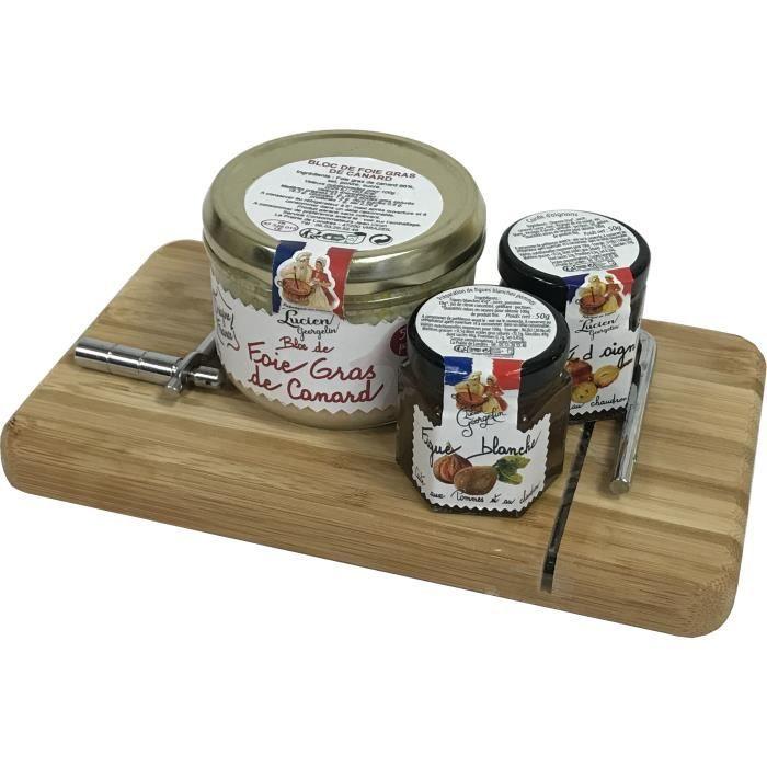 COFFRET CADEAU ÉPICERIE LUCIEN GEORGELIN Corbeille Planche foie gras - 280