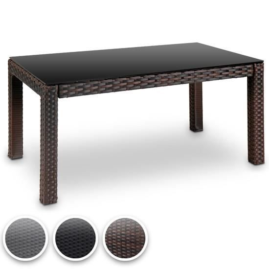 table basse en poly rotin rttt04 noir achat vente table de jardin table basse en poly rotin. Black Bedroom Furniture Sets. Home Design Ideas