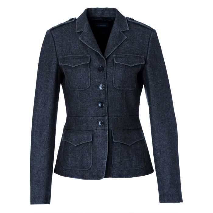 strenesse femmes blazer gris bleu gris bleu achat vente veste cdiscount. Black Bedroom Furniture Sets. Home Design Ideas