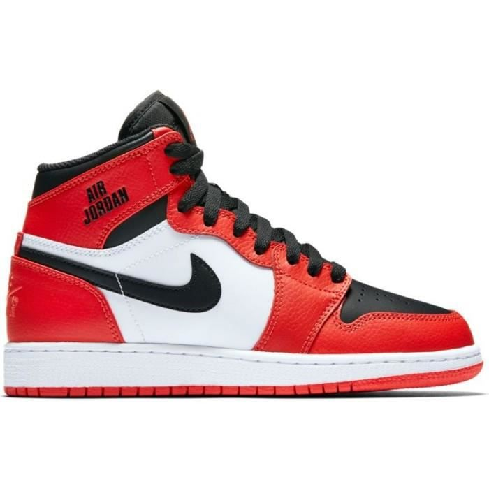 air jordan 1 orange et noir junior