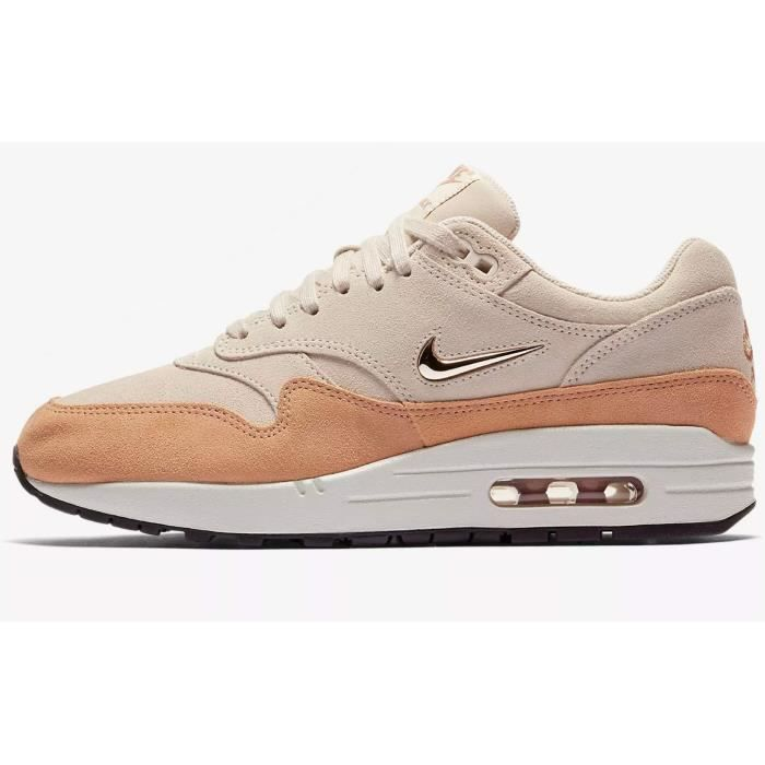 new style 9ff03 7cb59 BASKET Nike air max 1 premium sc pour femmes (glace goyav