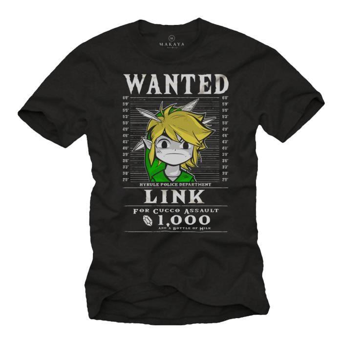 T-SHIRT Gamer T-Shirt Homme Noir - Link the Legend - Idee