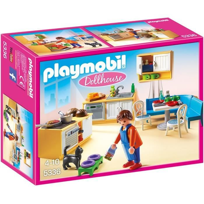 Playmobil 5336 cuisine avec coin repas achat vente for Salle a manger playmobil city life