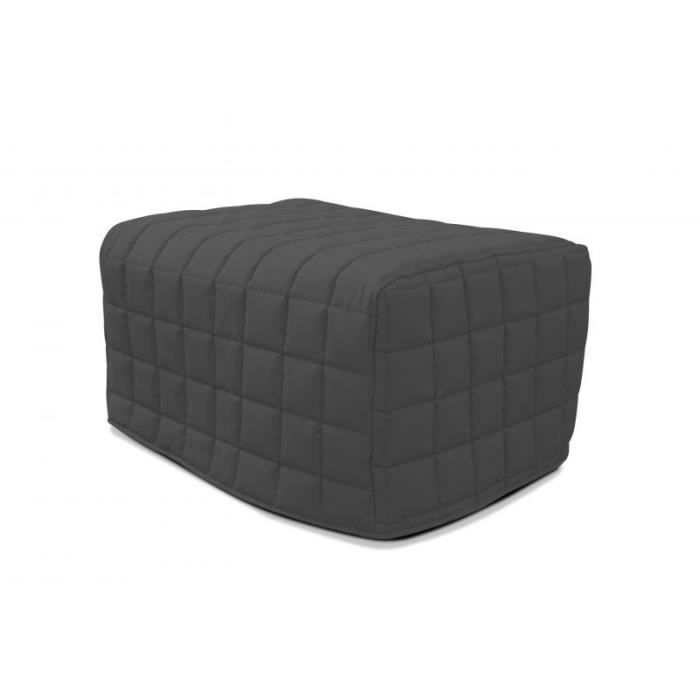 pouf convertible lubo gris achat vente lit pliant black friday le 24 11 cdiscount. Black Bedroom Furniture Sets. Home Design Ideas