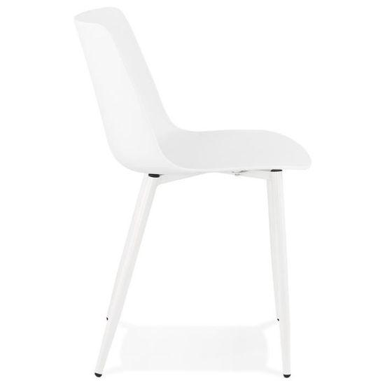 Chaise de cuisine moderne \'BRENDA\' blanche