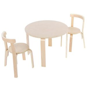 TABLE ET CHAISE Ensemble de Table et 2 Chaises pour Enfant en Bois