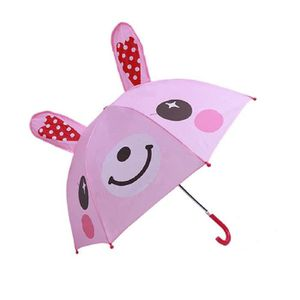 Parapluie de Princesse /à Long Manche l/éger et Portable Parapluie Children pour gar/çons et Filles avec Oreilles danimaux