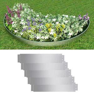 CLÔTURE - GRILLAGE Bordure de pelouse 5 pcs Acier galvanisé 100 x 20